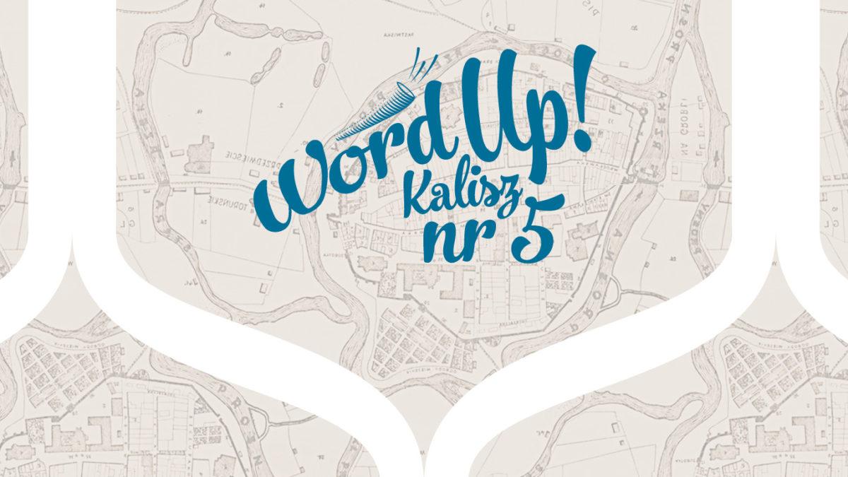 5 Wordup Kalisz logotyp na tle starej mapy Kalisza.