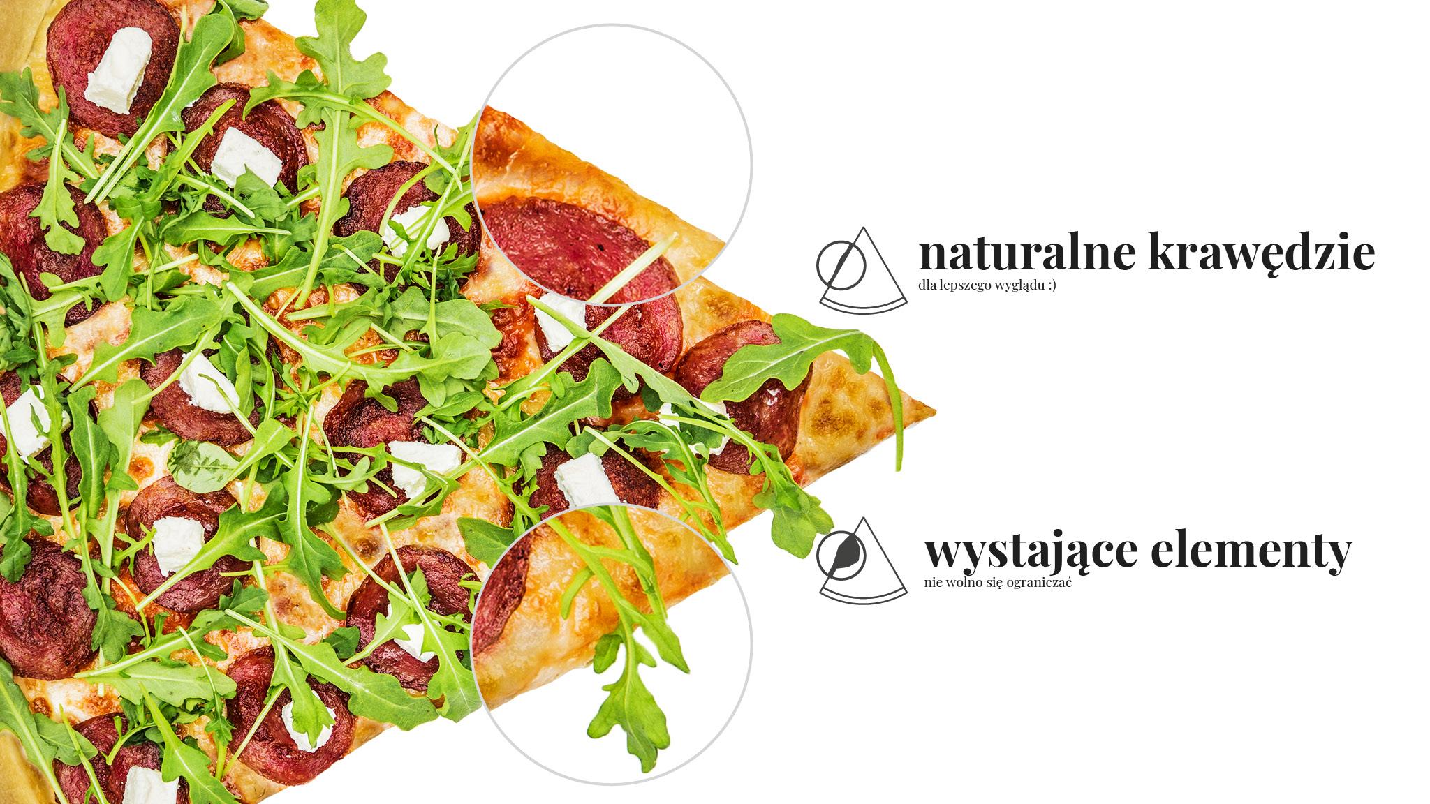 Pizza 60 freebee system – naturalne krawędzie dla lepszego wyglądu :) – wystające elementy nie wolno się ograniczać