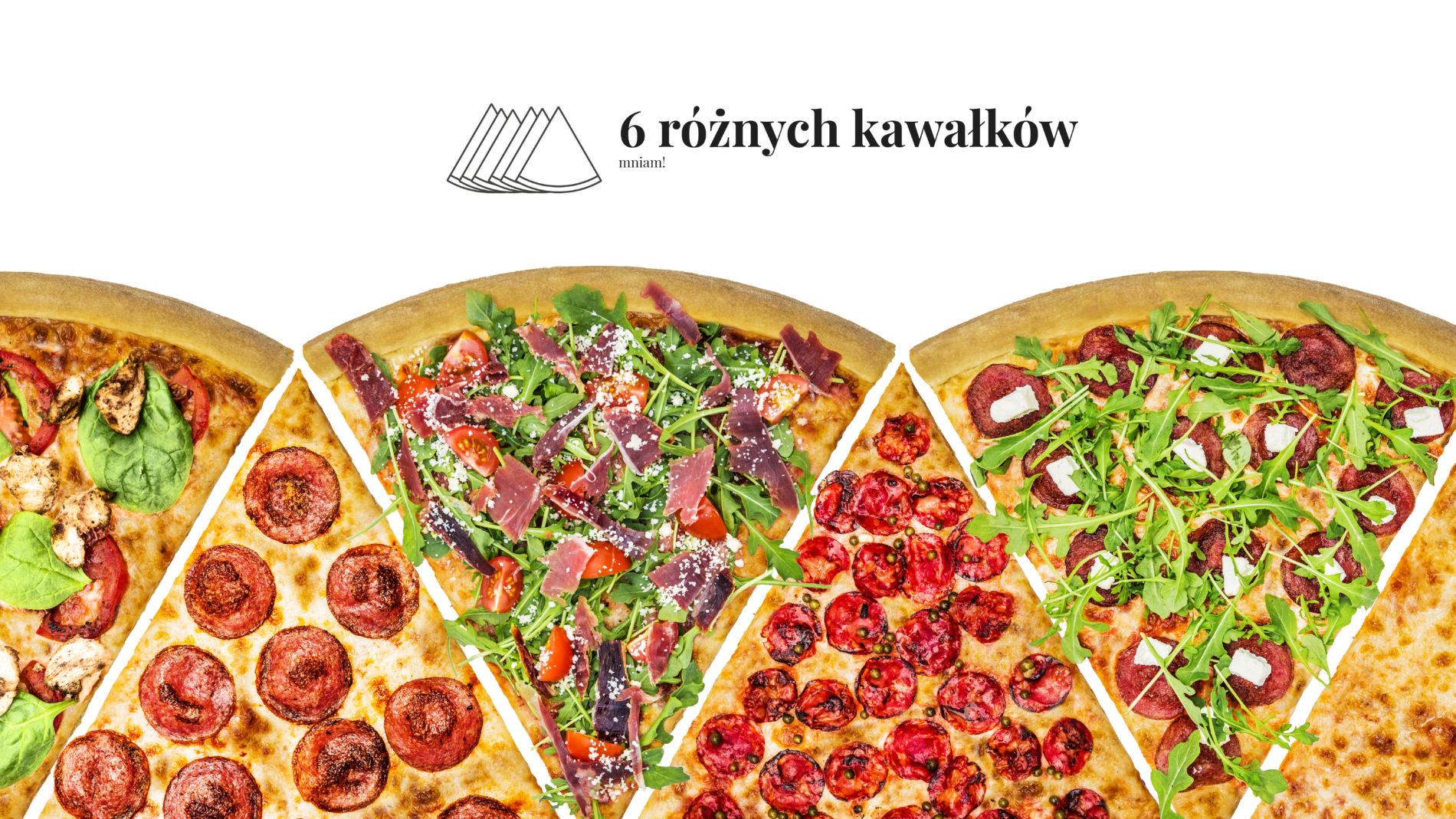 Pizza 60 freebee system – 6 rożnych kawałków, mniam!