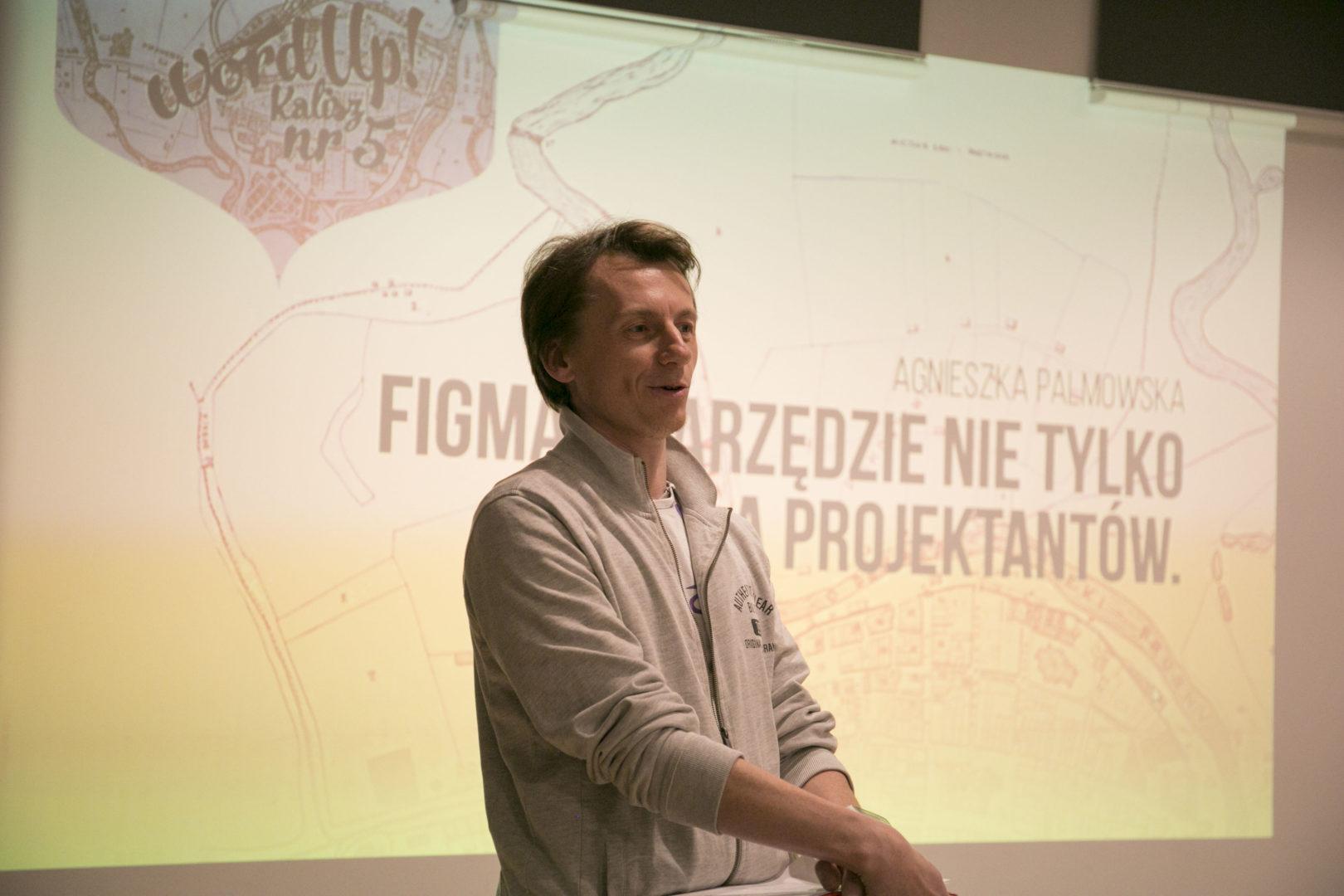 Marcin Andrzejewski podczas organizacji WordUp! Kalisz nr 5.