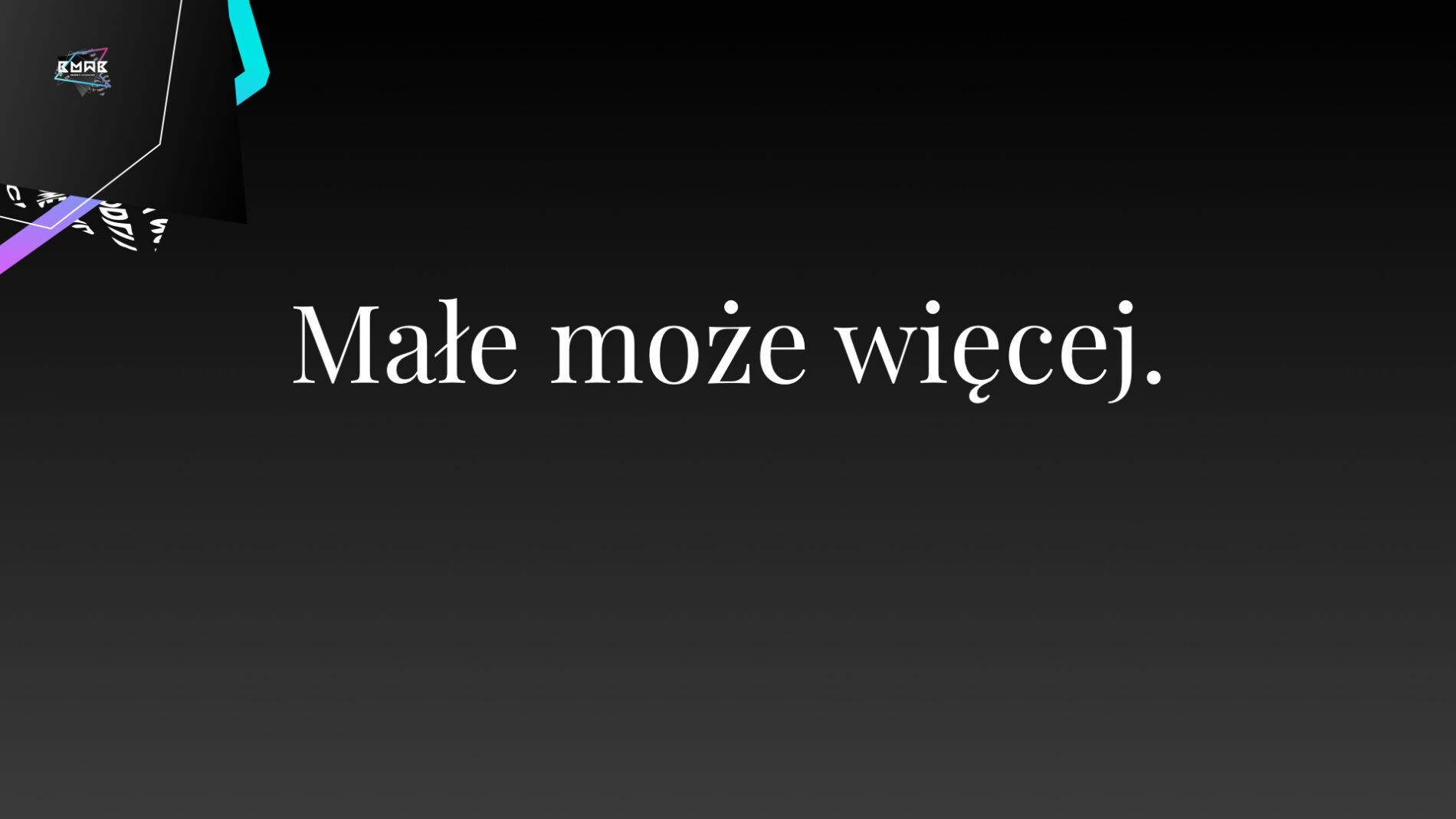 """Plansza z prezentacji """"Małe może więcej. YouTube dla małych i średnich ośrodków kultury"""" wygłoszonej przez Marcina Andrzejewskiego na Konferencji """"Marketing w Kulturze 2021""""."""